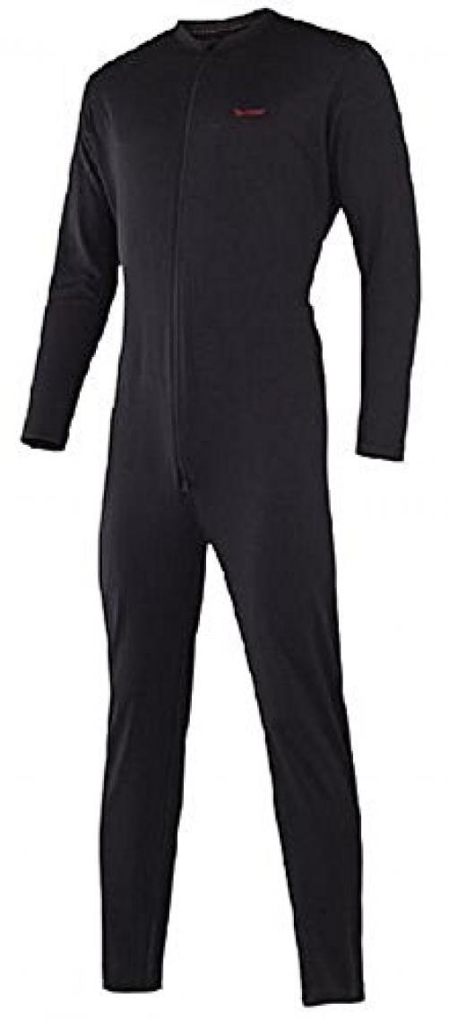 Terramar Sports Men's Military Fleece Unionsuit L Black by Terramar