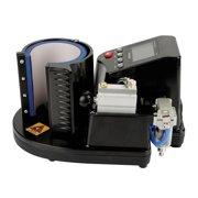 HERCHR Pneumatic Mug Press, Pneumatic Mug Press Machine, US Plug 110V Pneumatic Auto Mug Transfer Sublimation Heat Press Machine ST-110 Black