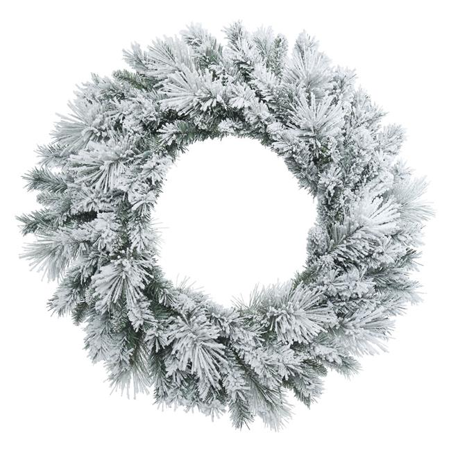 Vickerman B169130 Flocked Castle Pine Wreath, 30 in. - image 1 de 1