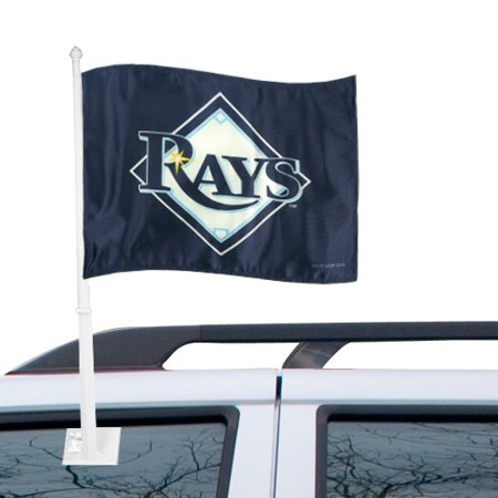 """Tampa Bay Rays 11"""" x 15"""" Navy Blue Car Flag - No Size"""
