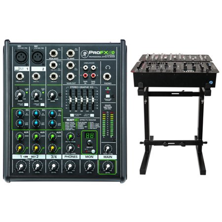 - New Mackie PROFX4v2 Pro 4 Channel Compact Mixer w Effects PROFX4 V2+Mixer Stand