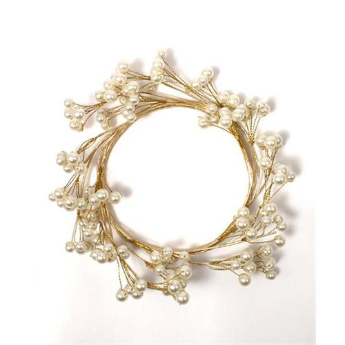 Weddingstar 9197 Pearl & Vintage Gold Wire Ornamental Ring