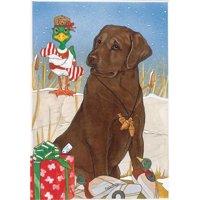Chocolate Labrador Retreiver Christmas 10 Boxed Greeting Cards