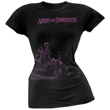Army Of Darkness - Purple Logo Juniors T-Shirt