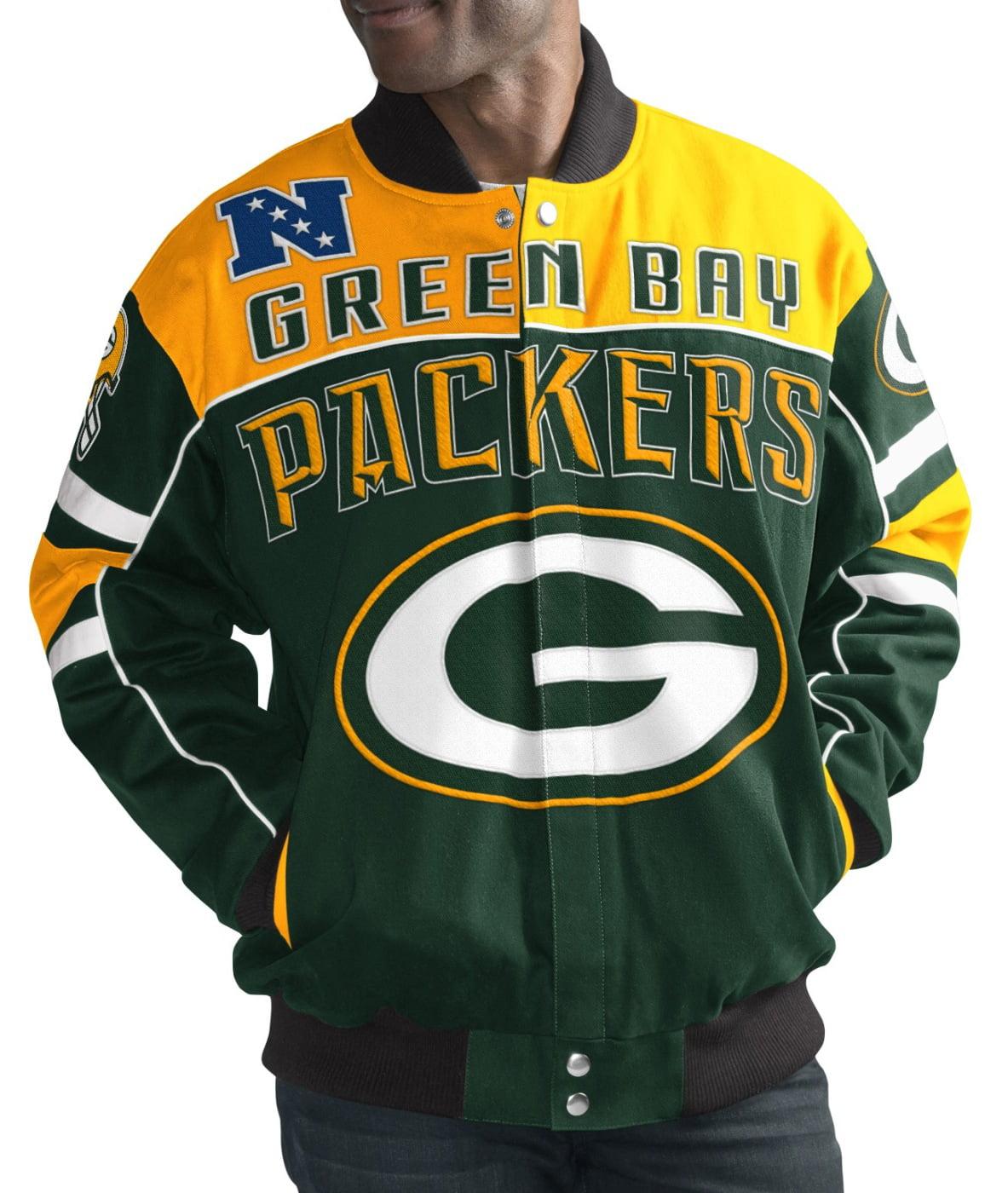 "Green Bay Packers Men's NFL G-III ""Blitz"" Premium Cotton Twill Jacket by G-III Sports"