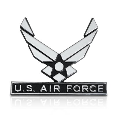 Wings Emblem - US Air Force Wings 3D Chrome Metal Car Emblem