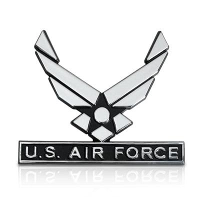 US Air Force Wings 3D Chrome Metal Car Emblem (Air Force Emblem)