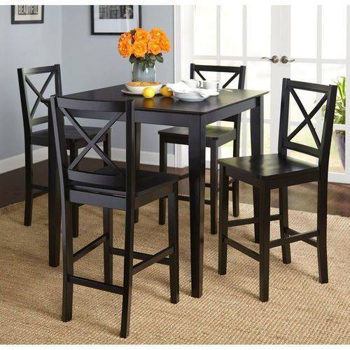 Virginia 5-Piece Counter-Height Dining Set, Black