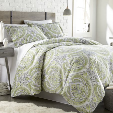 Pure Melody 3-piece Reversible Classic Paisley Printed Comforter Set by Southshore Fine - Paisley Printed