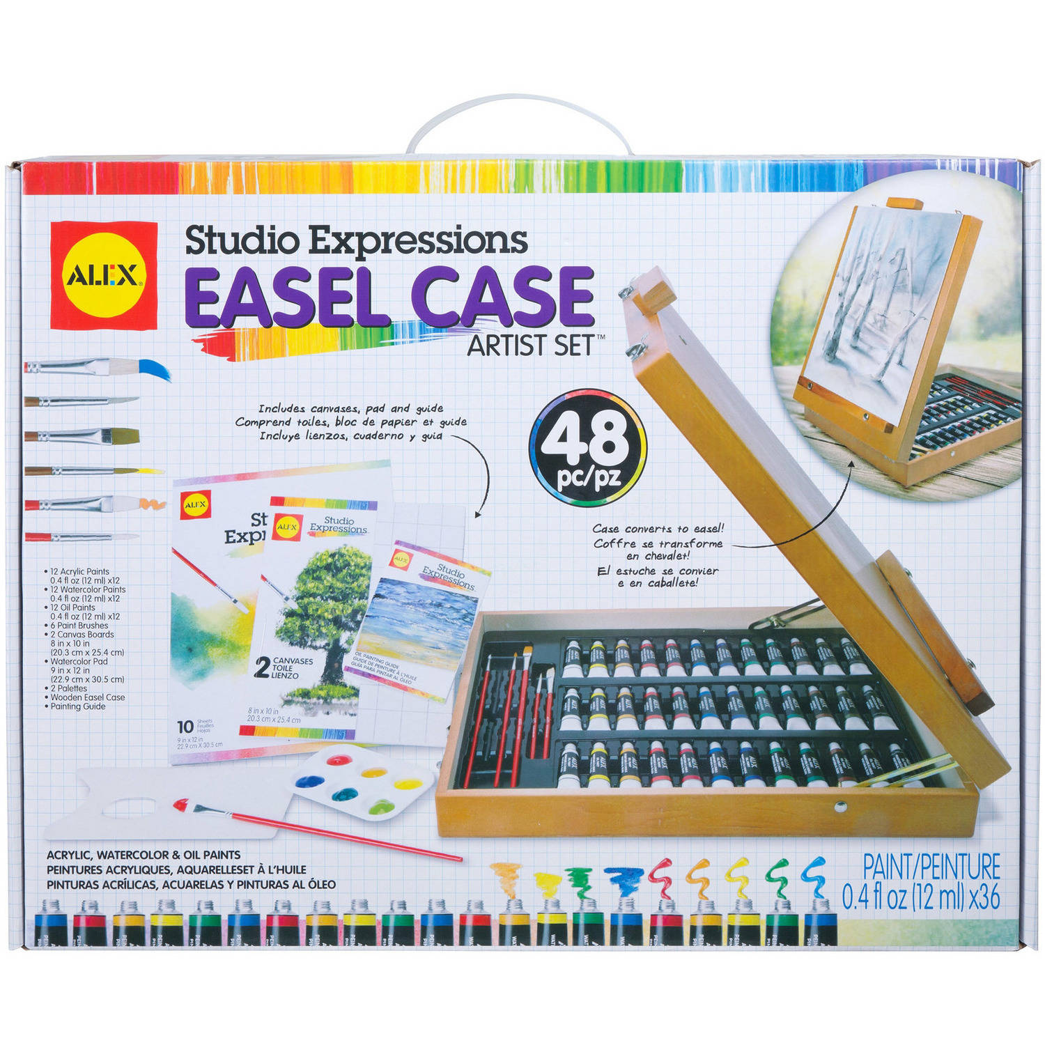 ALEX Art Studio Expressions Easel Case Artist Set by Alex Brands