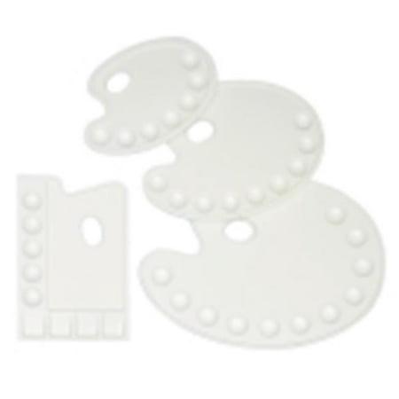 Alvin Rectangular Plastic Palette - 9. 75 x 6. 75 inch - 9 (Alvin Rectangular Plastic Palette)
