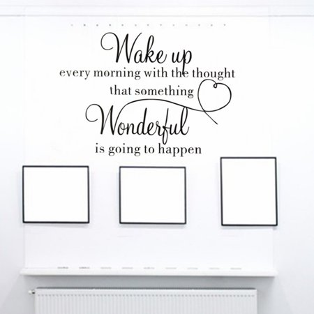 Wake Up Wonderful DIY Wall Sticker Home Decoration Bedroom Living Room Removable Vinyl Decal Art - image 4 of 10