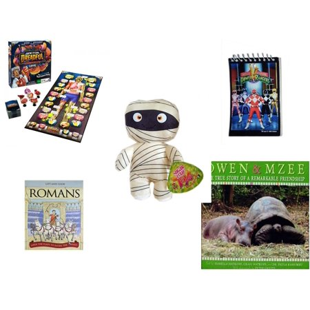 Children's Gift Bundle [5 Piece] -  Dr. Dreadful Scabs and Guts Board  - 1993 Mighty Morphin Power Rangers Notepad - Sugarloaf Kelly s Mummy Doll  11