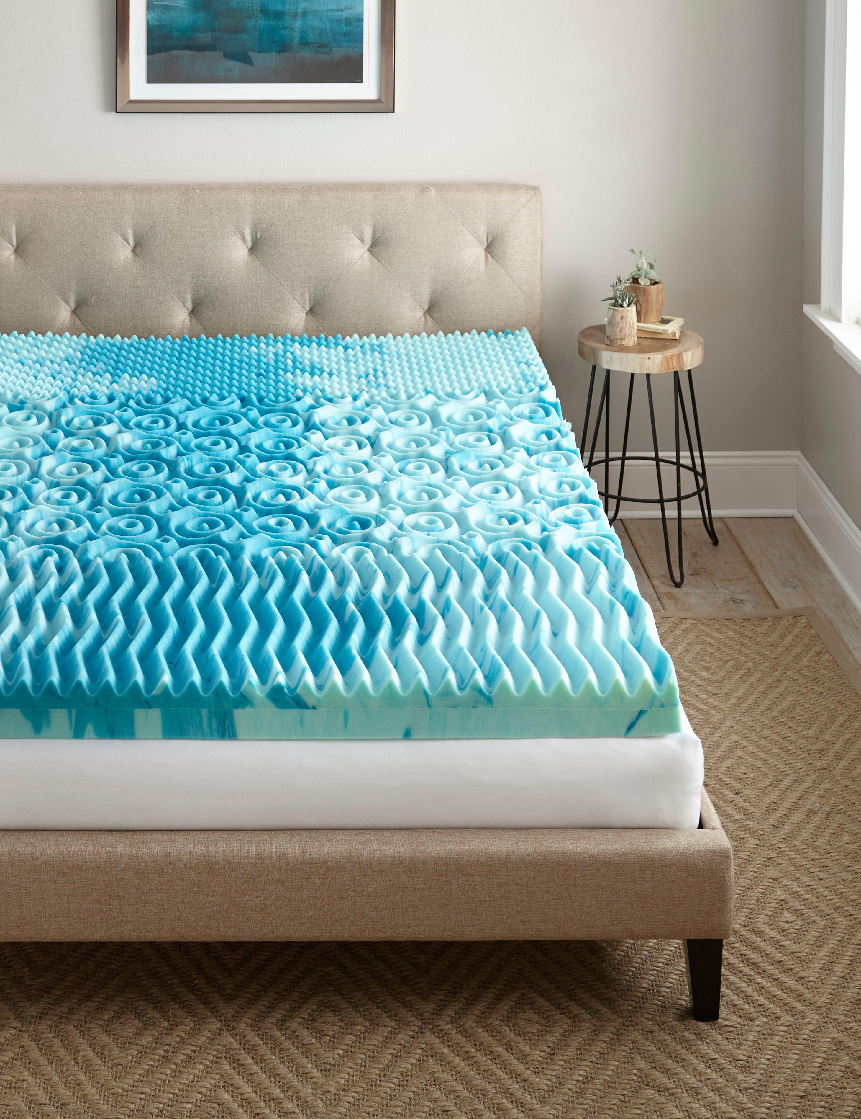 broyhill 4 inch cooling gellux memory foam gel mattress topper. Black Bedroom Furniture Sets. Home Design Ideas