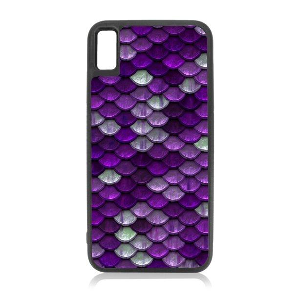 Purple Mermaid Scales Flat Print Design Iphone Xr Girl Cases Xr Cases For Girls Black Rubber Case For Iphone Xr Iphone Xr Phone Case Iphone Xr Accessories Walmart Com Walmart Com