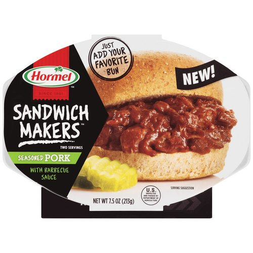 Hormel Sandwich Makers Seasoned Pork with Barbecue Sauce, 7.5 oz