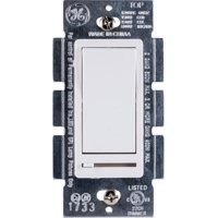 GE Rocker On/Off Switch with Slide for Incandescent, LED and CFL Dimmable Bulbs, 10464