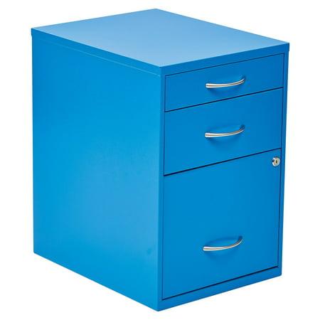 3 Drawer Vertical Metal Lockable Filing Cabinet, Multple (Office Star Manchester Finish)