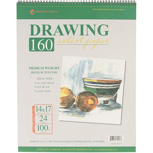 "Global Art Spiral Drawing Pad, 11"" x 14"""