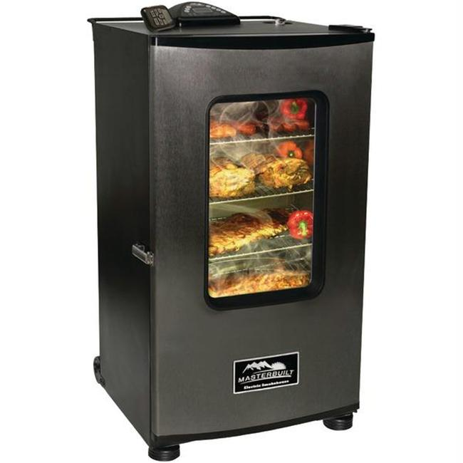 Masterbuilt Electric 30 in. Black Digital Electric Smoker with Window and Remote