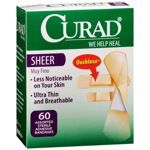 Curad Sheer Bandages One Size 80 Each (Pack of 6)