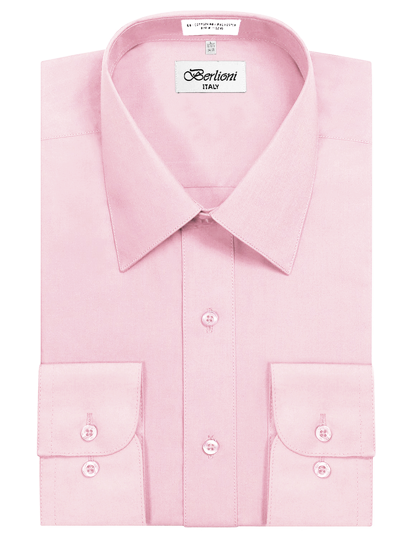 Gerneric Mens Long Sleeve 100/% Pink Button Shirt Wedding Shirts