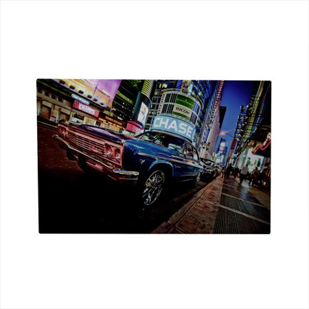 Northlight Seasonal Battery Operated 8 LED NYC Time Square Classic Car Photographic Print on Canvas - Seasonal Jobs Nyc