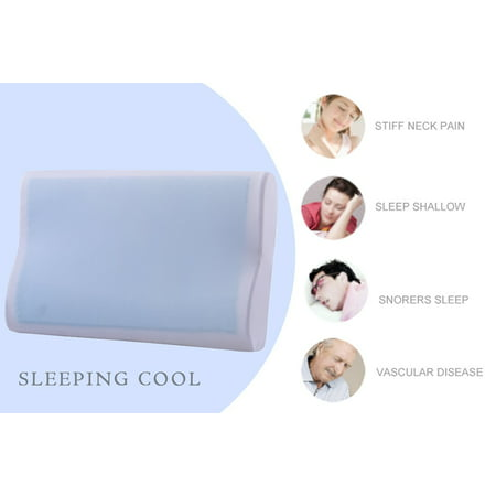 Cr Sleep Gel Memory Foam Contour Pillow for Sleeping Cool and Neck Support, Standard