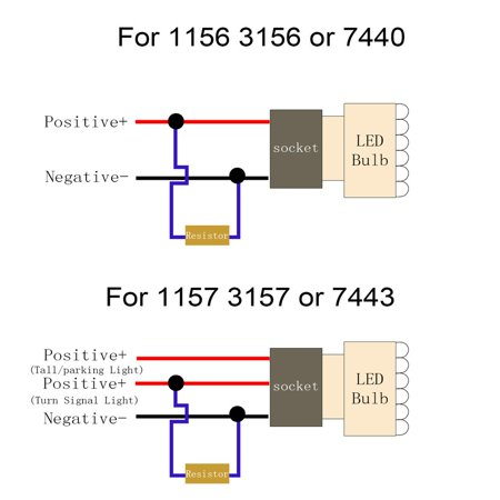 Aluminum 50w 6r load resistor fix led bulb fast hyper flash turn aluminum 50w 6r load resistor fix led bulb fast hyper flash turn signal blink walmart sciox Choice Image