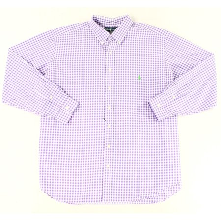 Ralph Lauren NEW Purple Mens Big 2X Classic Check  Button Down Shirt Boys Ralph Lauren Button