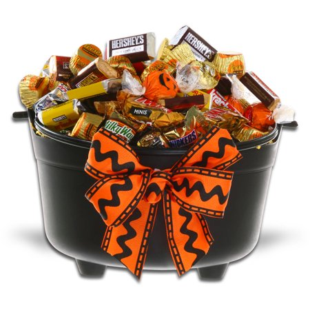 Halloween Gift Basket Ideas For Adults.Halloween Caldron Of Chocolate Treats