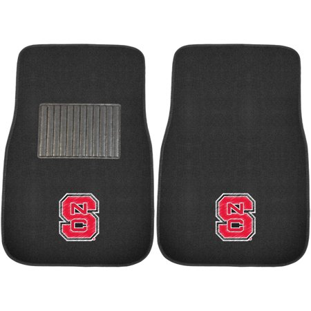 Embroidered Mat Standard - FanMats NC State 2-Piece Embroidered Car Mats