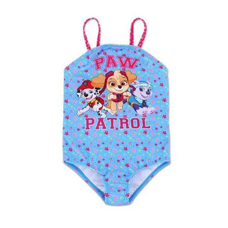 651c77c7eb PAW Patrol Toddler Girls' One Piece Swimsuit Skye, Marshall Everest - Pup  Squad Blue