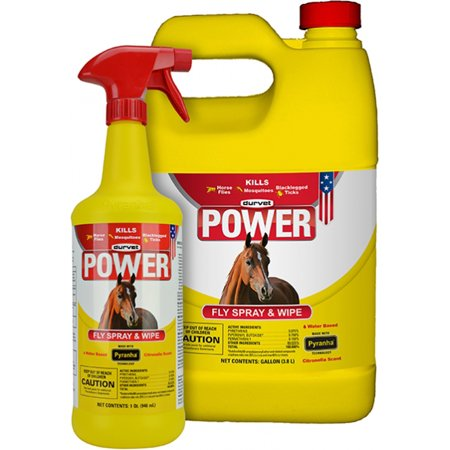 POWER FLY SPRAY AND WIPE FOR HORSES All Natural Horse Spray