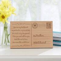Personalized Sending My Love Wood Postcard
