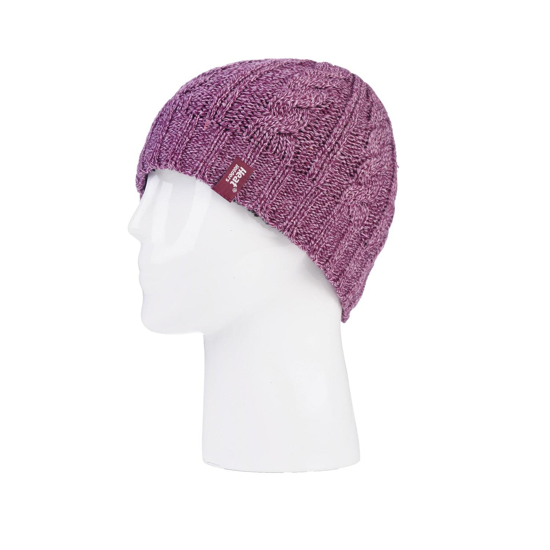 Grabber Heat Holders Women's Knit Hat, Rose by Grabber