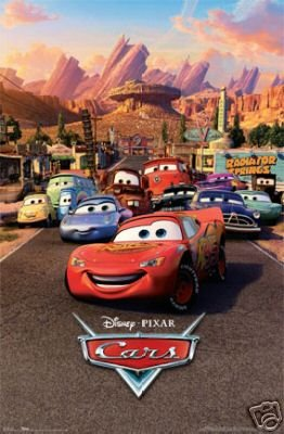 Cars Movie (Group, Town) Poster Print New 24x36 by