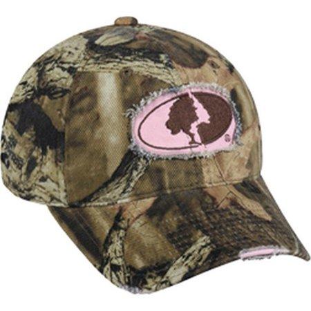 Outdoor Cap MOFS11A Women's Mossy Oak Breakup Infinity Frayed Hat One - Mossy Oak Woven Cap