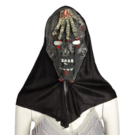 Unique Bargains Skulls Hands Forehead Halloween Horrible Hooded Mask