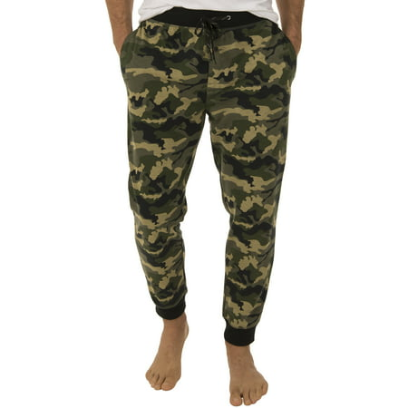 Fruit of the Loom Men's Poly Rayon Camo Jogger Sleep Pant (Mans Onesie)
