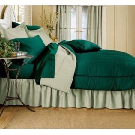 SOLID COLOR COMFORTER HUNTER REVERSING TO GREEN, TWIN - Solid Colors