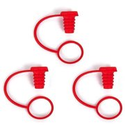 Gama-Go Bottle Capper Silicone Wine Stopper / Cork 3pk - Red