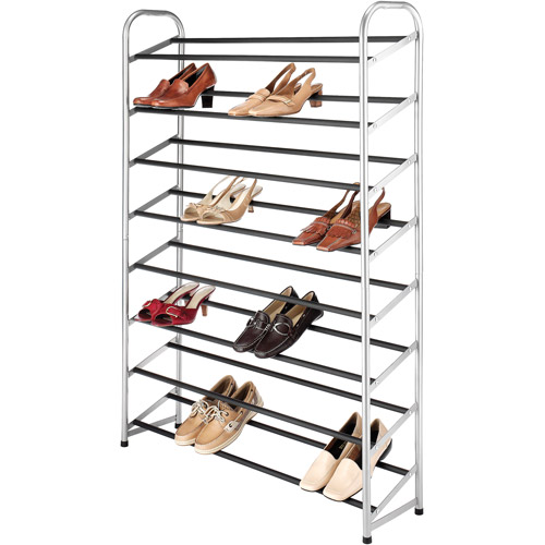 Whitmor 40 Pair Shoe Tower, Silver