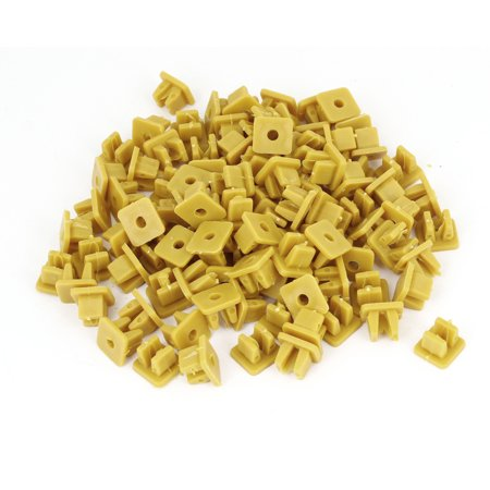 Unique Bargains 100pcs Repair Parts Push in Rivets Retainer Clip Dark Yellow for Vehicle Car