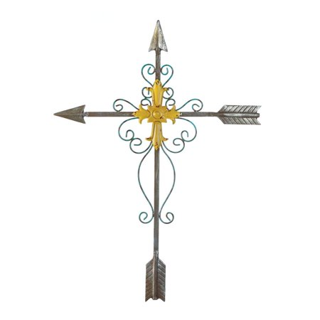 Crosses Wall Decor, Decorative Cross Metal Wall Art Plaque ...