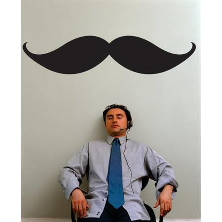 New Wall Ideas Mustache Mens 20x30