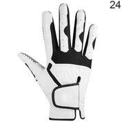Hi.FANCY 1Pc Golf Glove Men Anti-slip Microfiber Elastic Breathable Mitten for Outdoor Sport, Right, White, 24