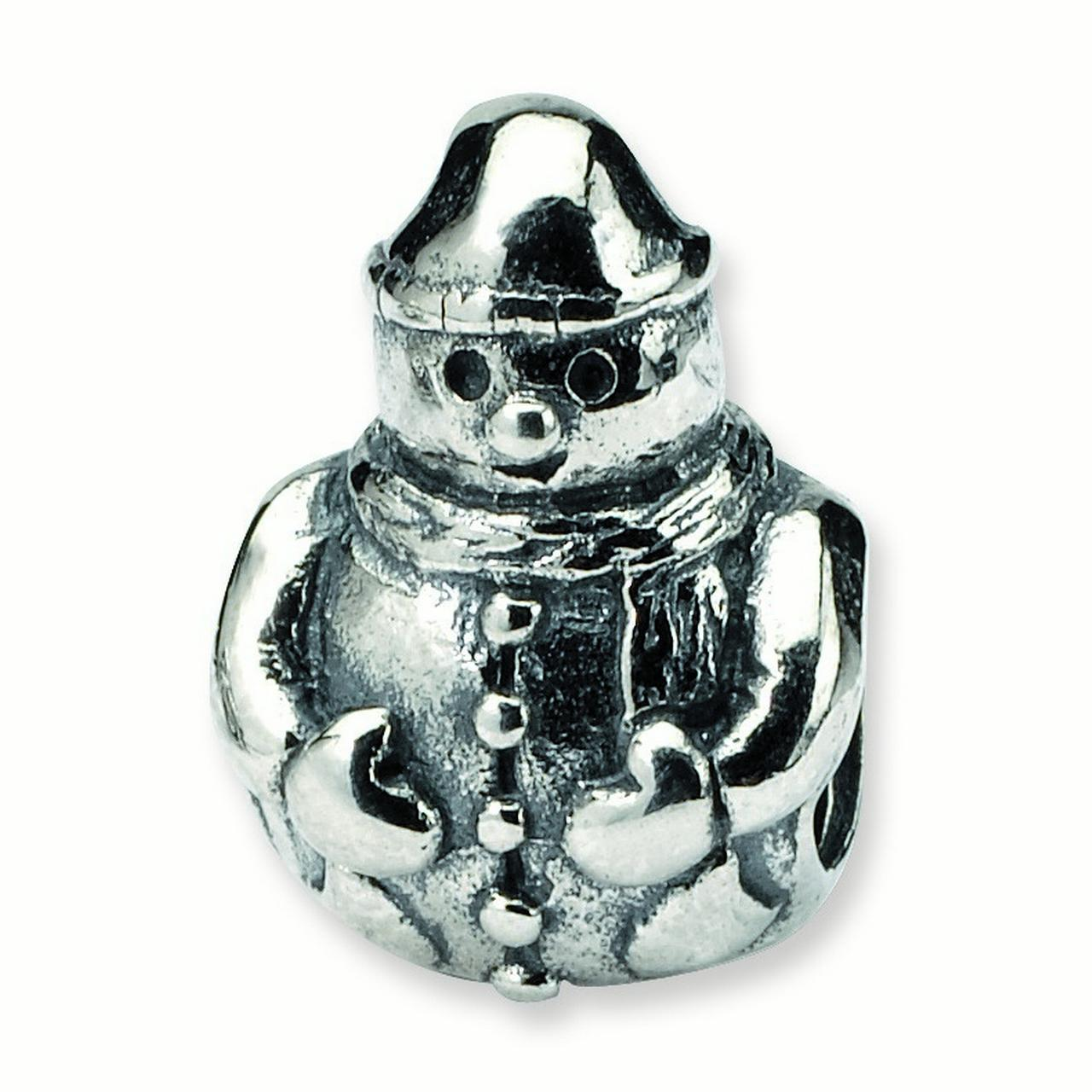 Snowman Charm in Silver for 3mm Charm Bracelets