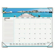 AT-A-GLANCE Visual Organizer Recycled Seascape Panoramic Desk Pad, 22 x 17 89803-10