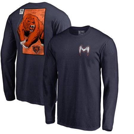 Chicago Bears NFL Pro Line by Fanatics Branded Big & Tall Midway Monster Long Sleeve T-Shirt -